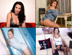 four cam girls waiting to chat